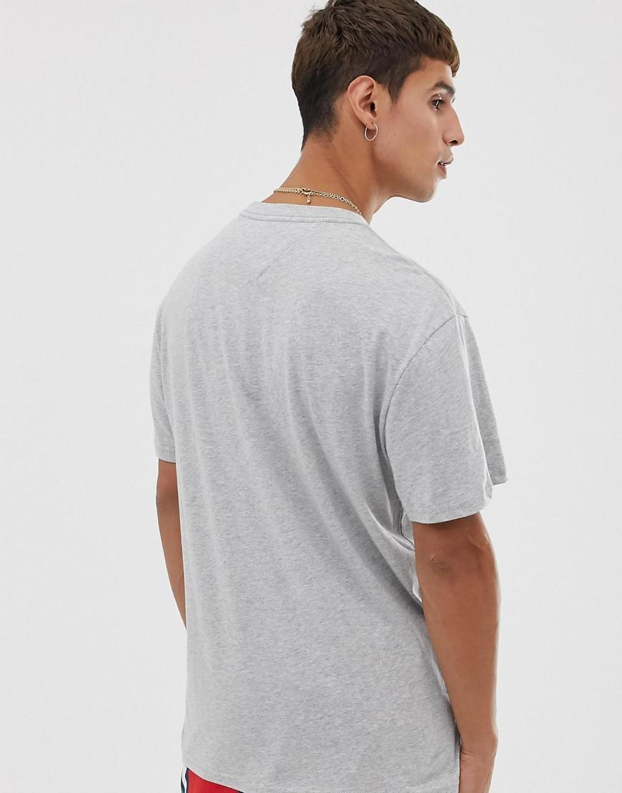 81d3c946dfc Tommy Hilfiger Essential T-shirt With Chest Box Logo In Grey in Gray for  Men - Lyst