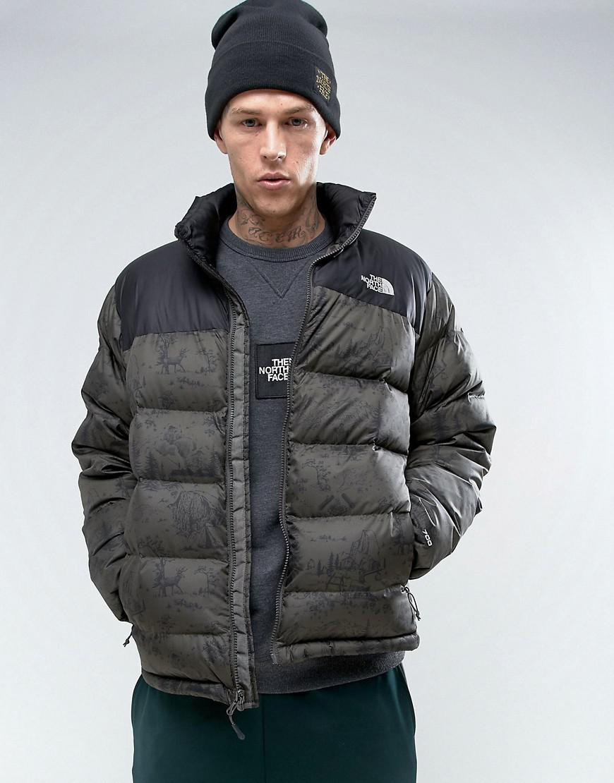 c5c1450edbce7 The North Face Nuptse2 Down Jacket In Woodland Print in Green for ...