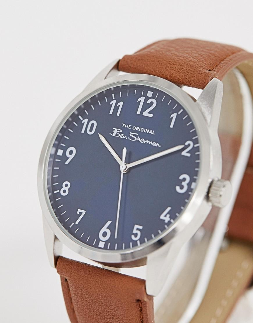 1d8de20b6 Ben Sherman Mens Watch With Brown Leather Strap Bs143 in Brown for Men -  Lyst