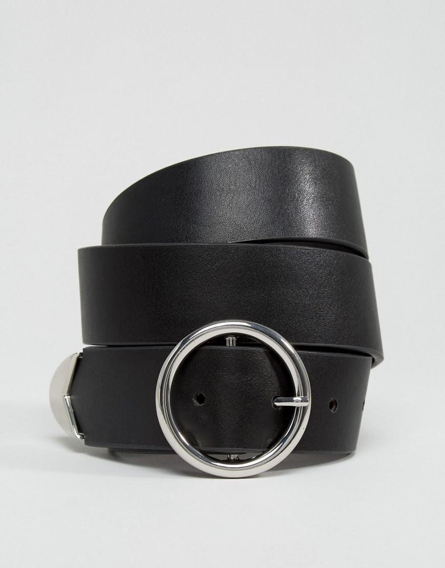 Lyst - Ceinture pour jean avec boucle circulaire et embouts fantaisie ASOS  en coloris Noir 0f57b7650b2