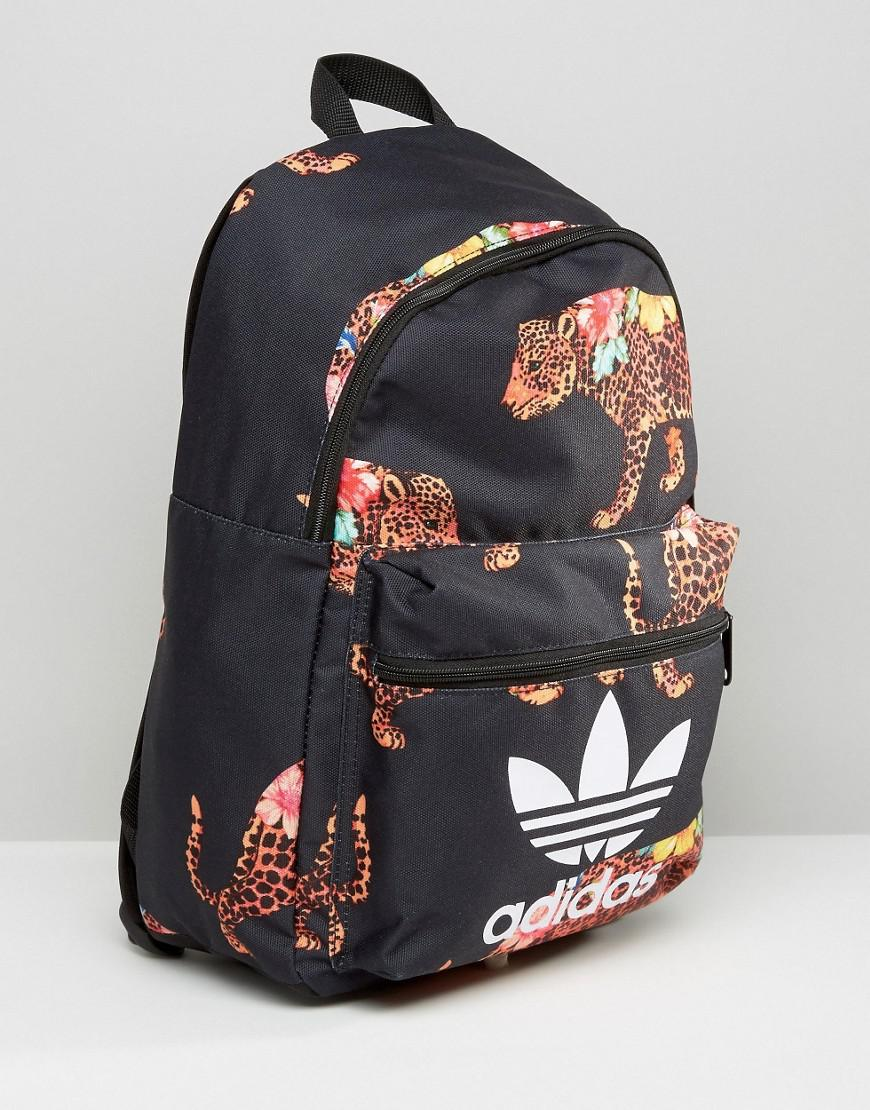 58a3cafe7d75 adidas Originals X Farm Multi Leopard Print Backpack With Trefoil ...