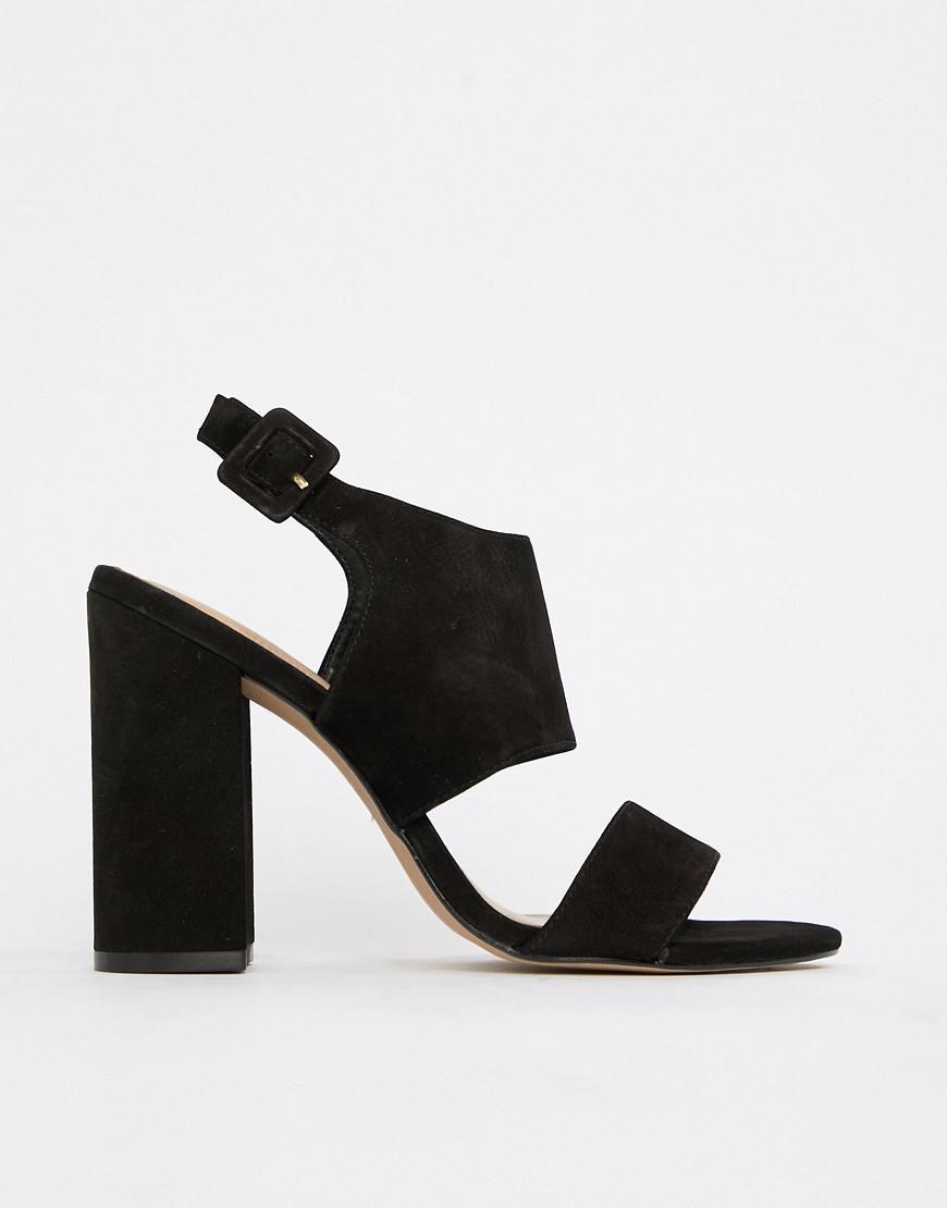 bea80adb53bb Lyst - Aldo Leather Block Heel Sandals in Black - Save 45.0%