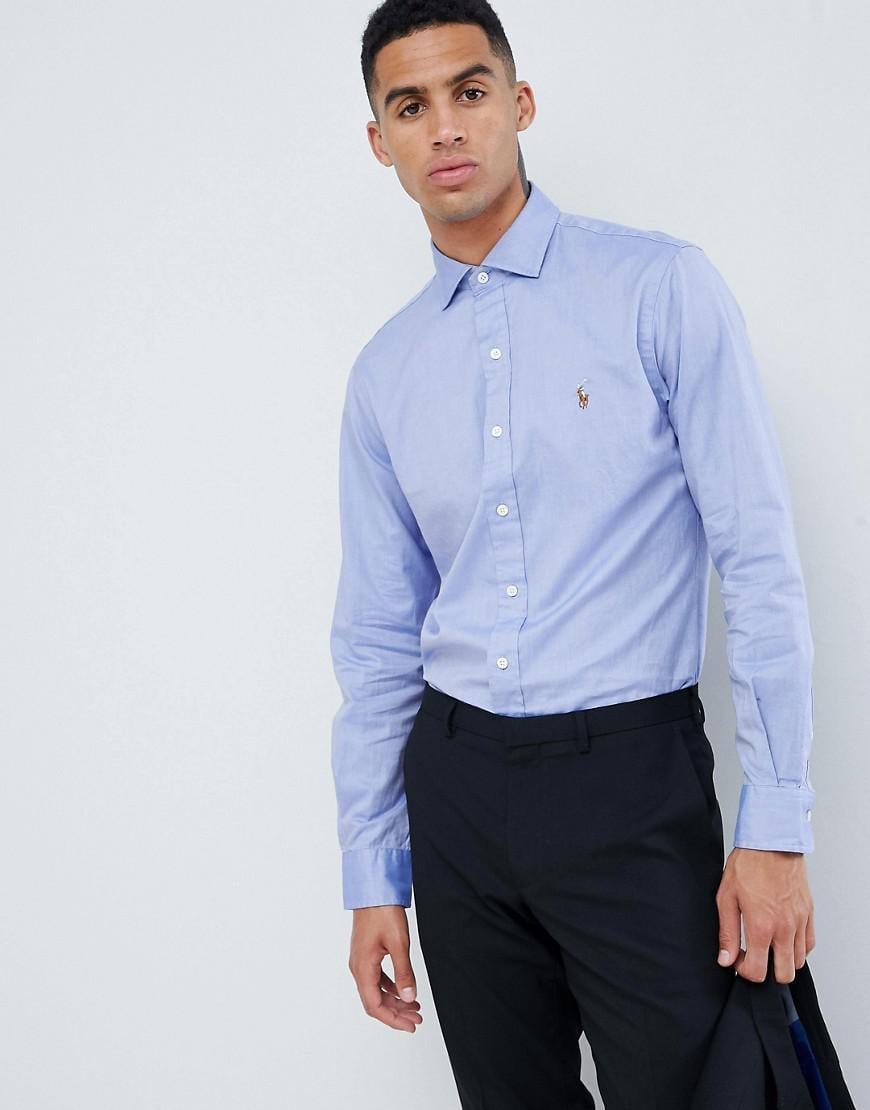 0911fc3e7ae ... shopping polo ralph lauren. mens slim fit luxury oxford shirt player  logo estate d93fa edb5b