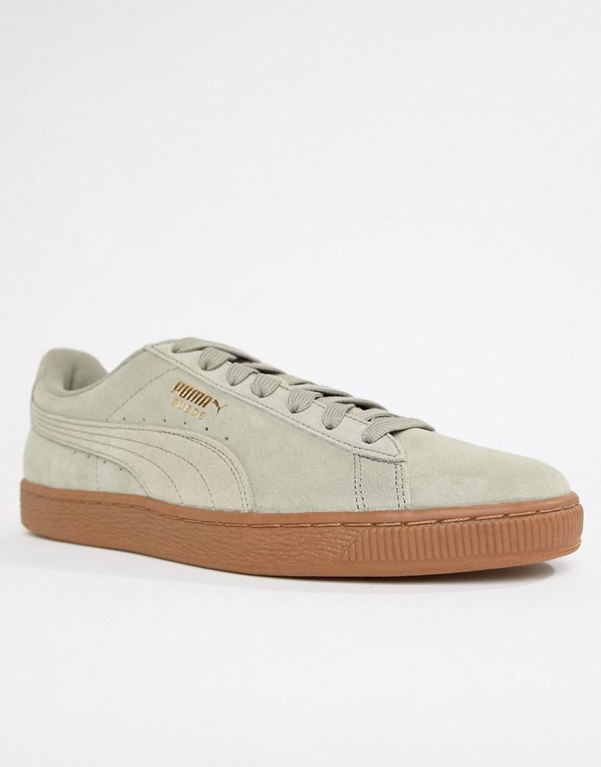 0d4be5e6e564 Lyst - PUMA Suede Gum Sole Sneakers In Gray 36534747 in Gray for Men
