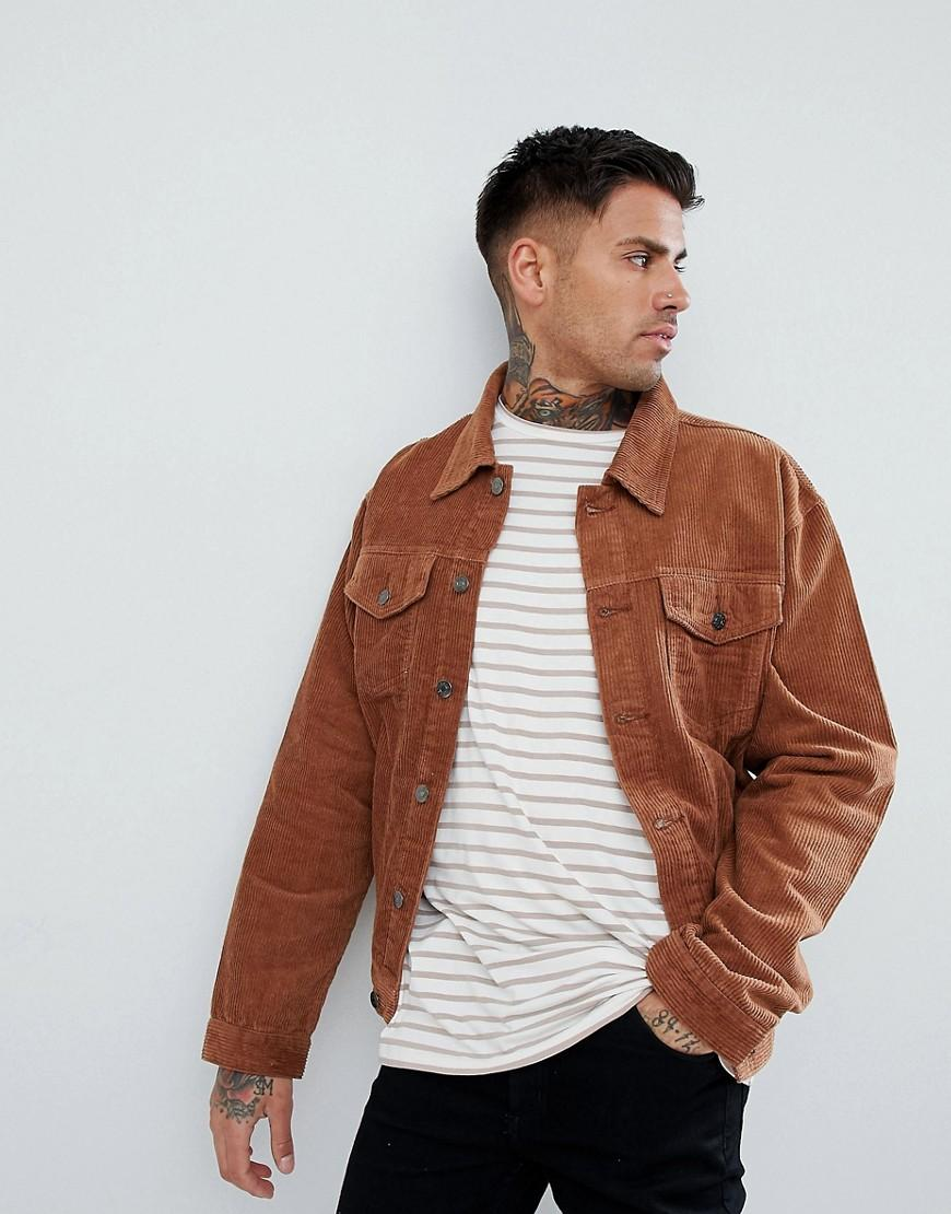 1b3eb9242a26 BoohooMAN Corduroy Jacket In Tan in Brown for Men - Lyst