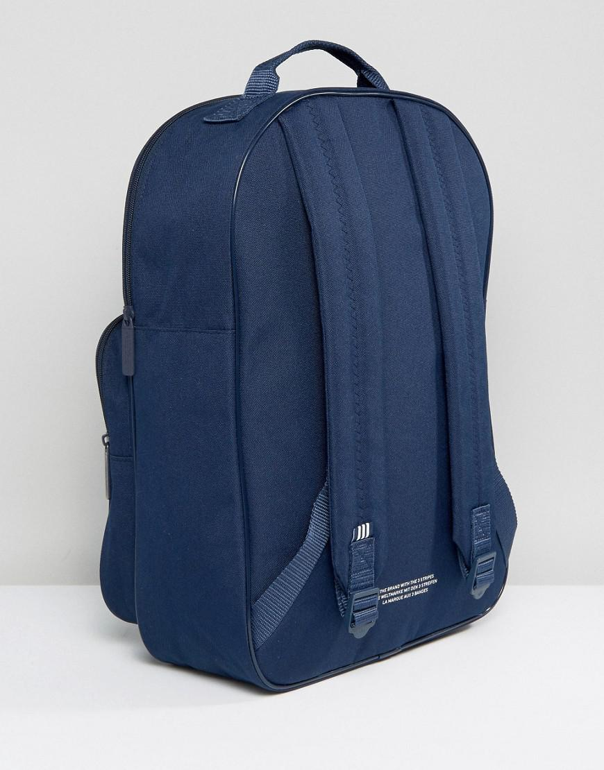Lyst - adidas Originals Trefoil Backpack In Collegiate Navy With ... 0b4b247893709