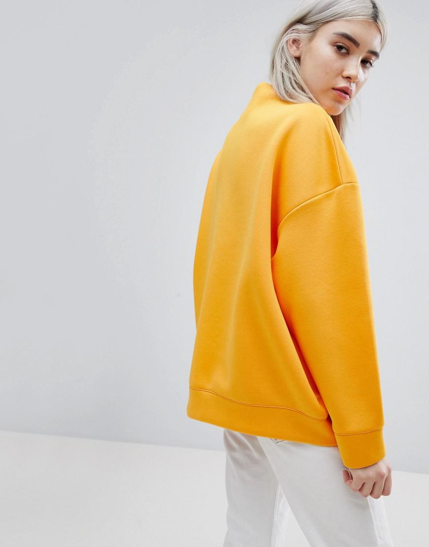 Sweat À Orange Weekday Cheminée shirt Jersey En Col gO8Fq6