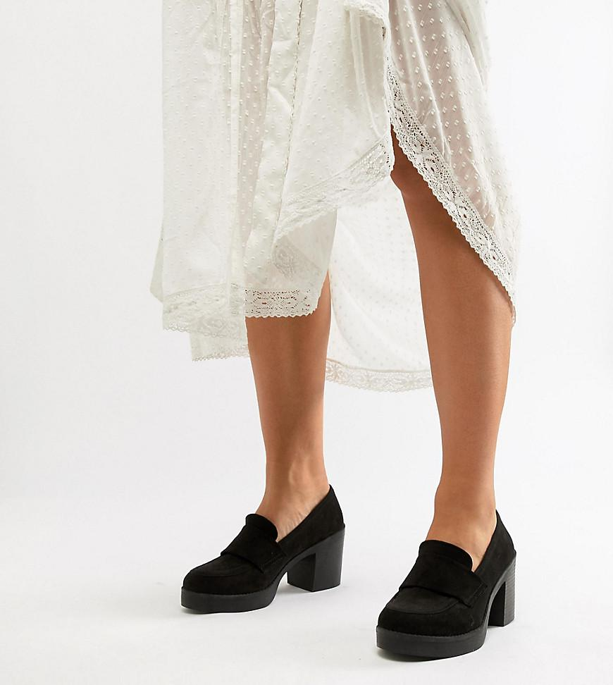 94bb7bbd2ae0 ASOS - Black Wide Fit Tempo Chunky Loafers - Lyst. View fullscreen