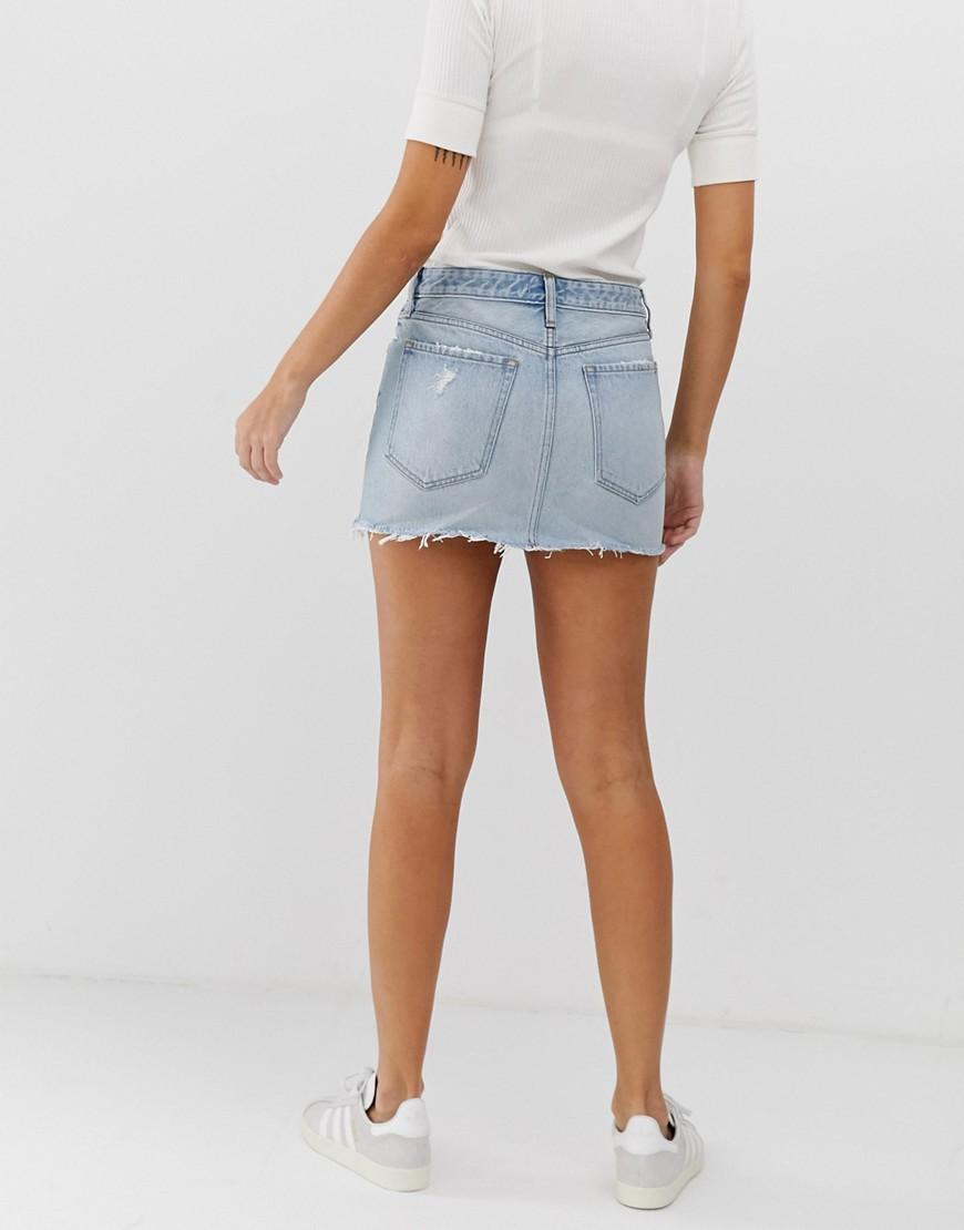 a71fc4b7aa Abercrombie & Fitch Hipster Denim Skirt in Blue - Lyst