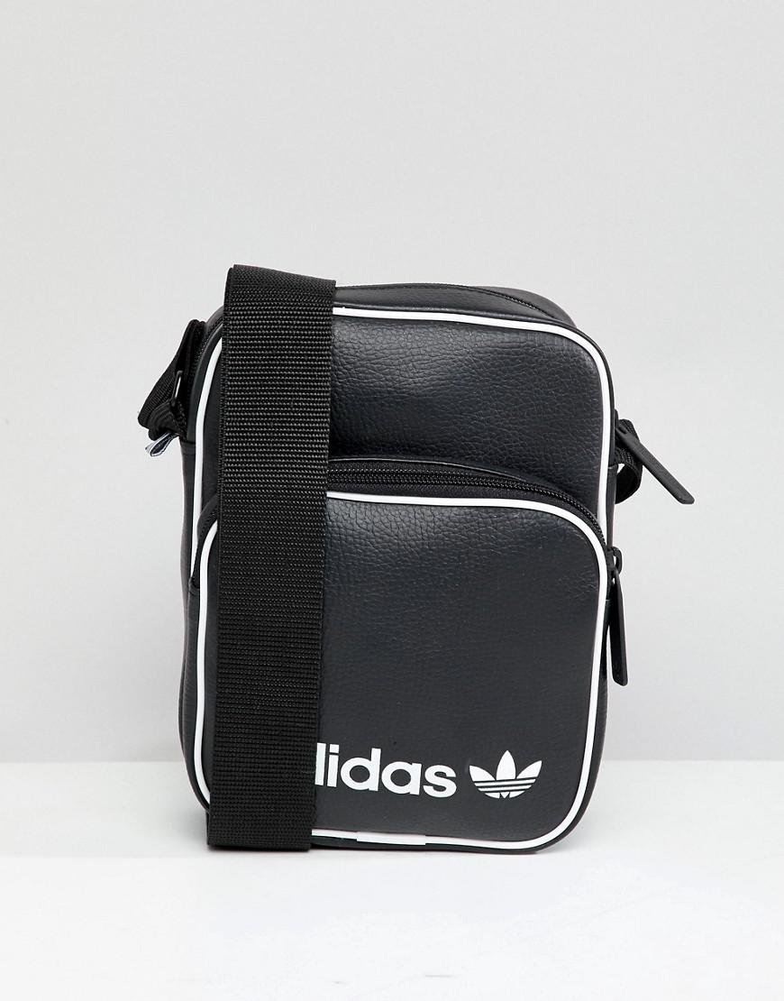 adidas Originals Large Flight Bag In Black Dh1006 in Black for Men ... 4a6e3dc3bd308