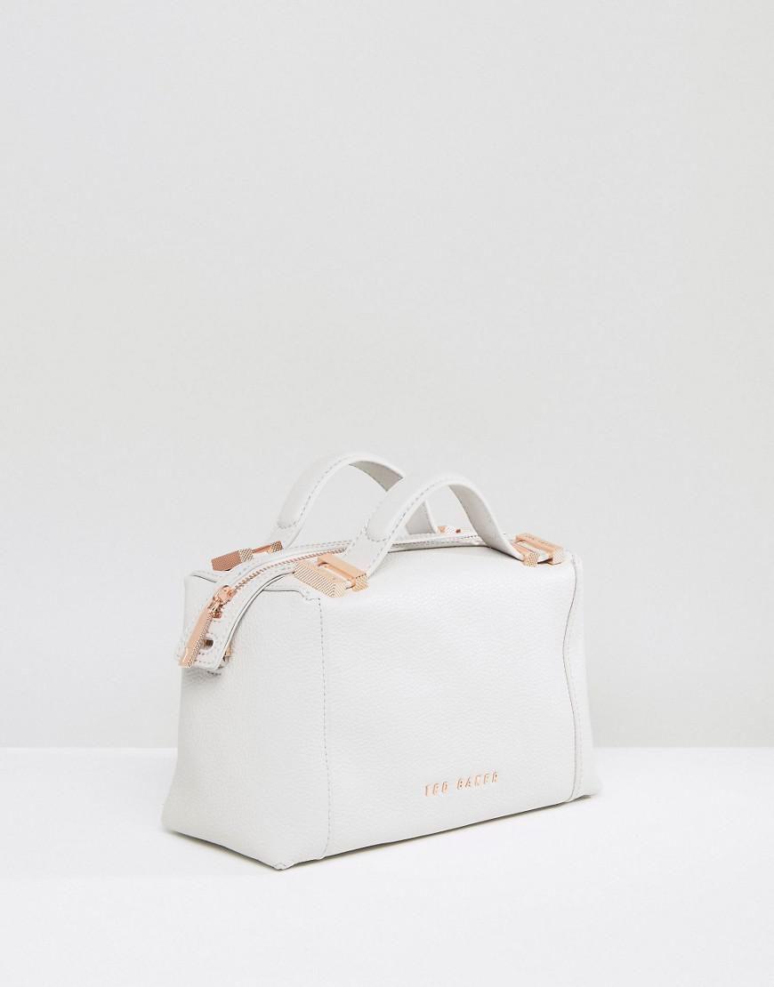 Lyst - Ted Baker Pop Handle Small Tote Bag in Gray ed672e3a18b2d