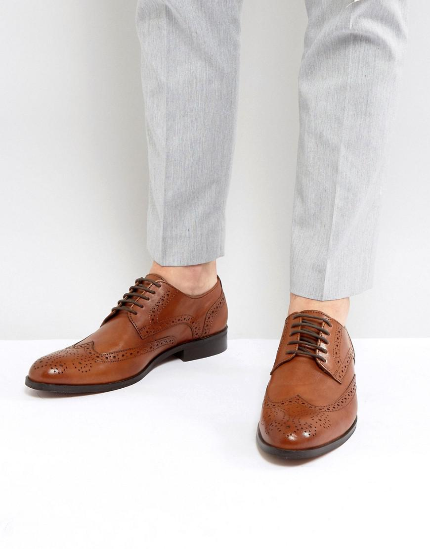 Dune Wing Tip Shoes Leather