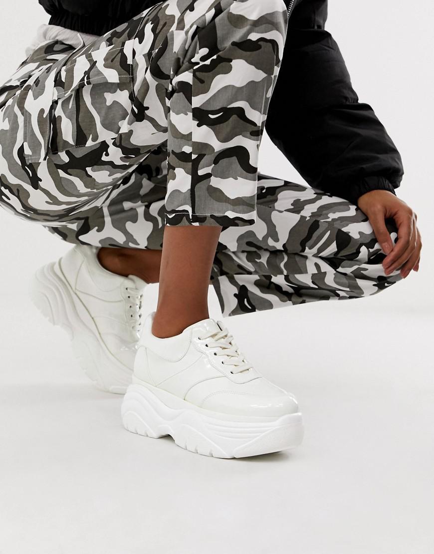 685868be7d ASOS - White Denial Chunky Sneakers - Lyst. View fullscreen
