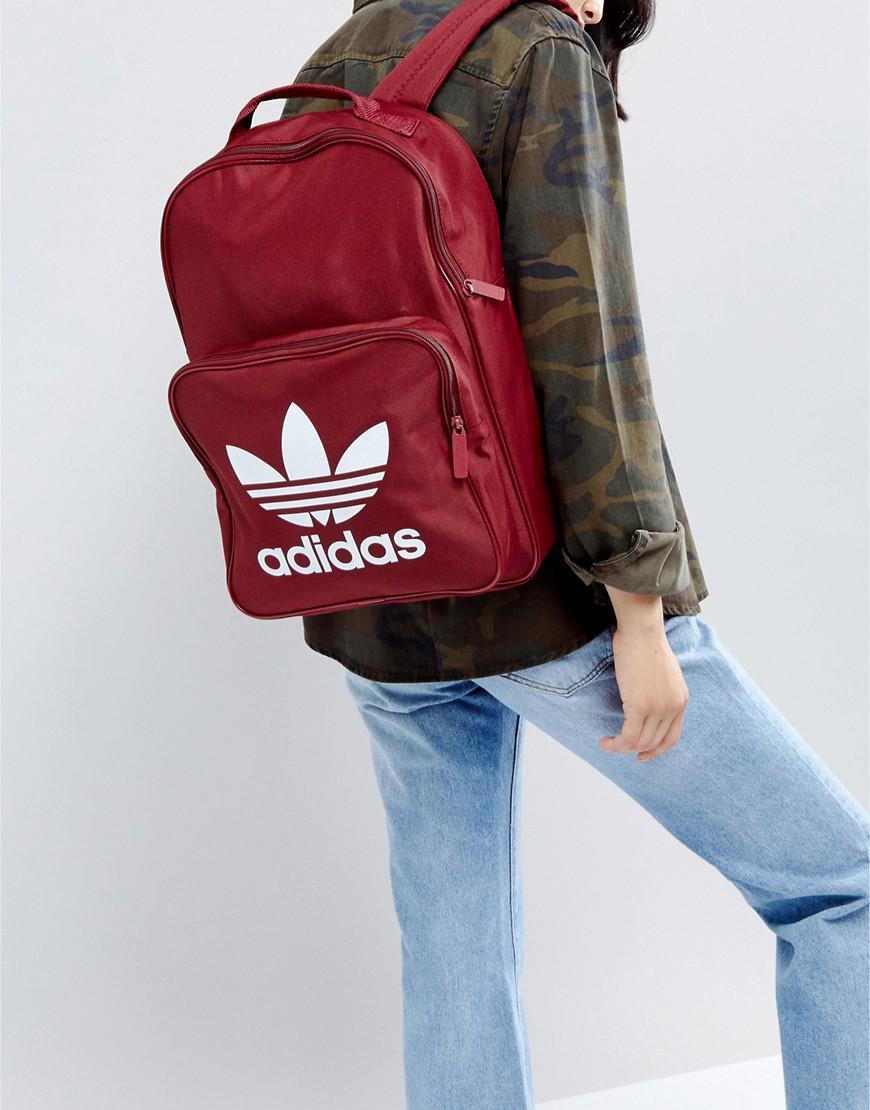 cc00f9ac9b Lyst - adidas Originals Originals Classic Burgundy Backpack With ...