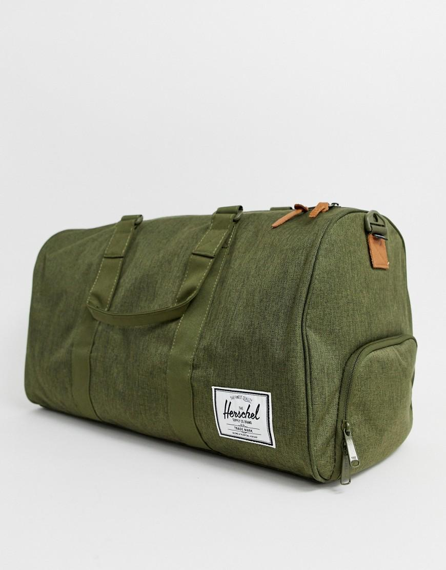 Lyst - Herschel Supply Co. Novel 42.5l Holdall In Crosshatch Khaki ... bd9a133928450