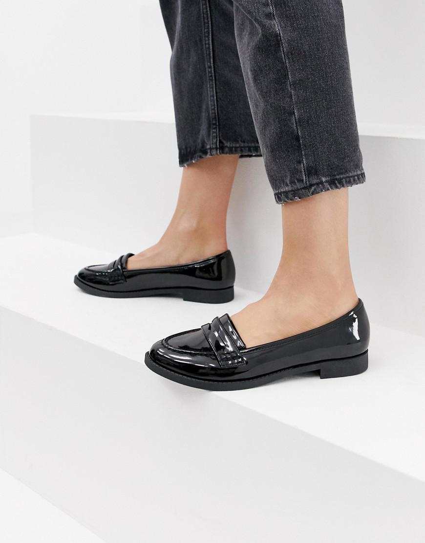 3337b5ed341a Lyst - ASOS Minny Flat Shoes in Black