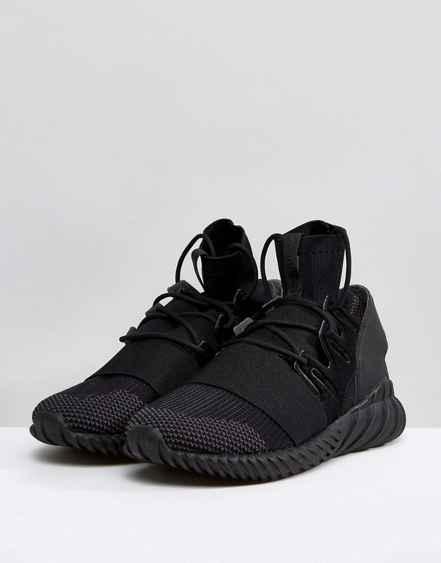 cbc8607217c Lyst - adidas Originals Tubular Doom Primeknit Sneakers In Black Da9023 in  Black for Men