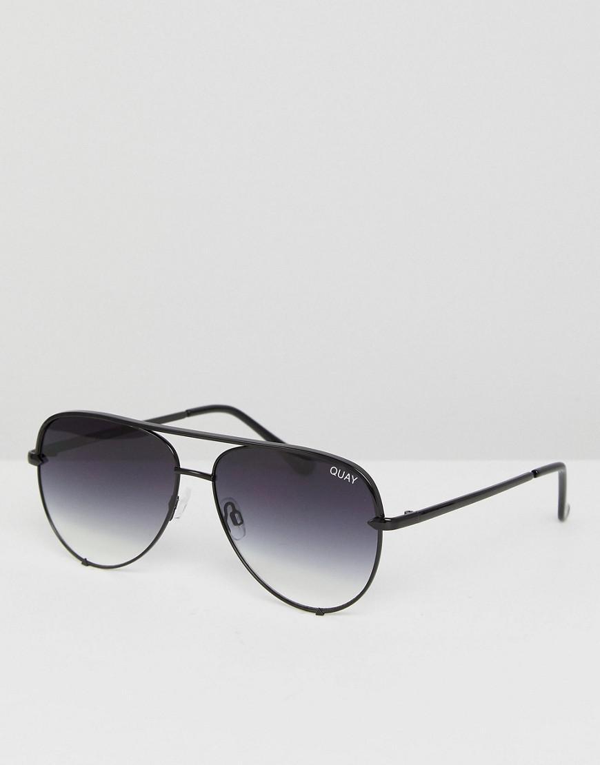 4f2a8525740 Quay - X Desi High Key Mini Aviator Sunglasses In Black Fade for Men - Lyst.  View fullscreen