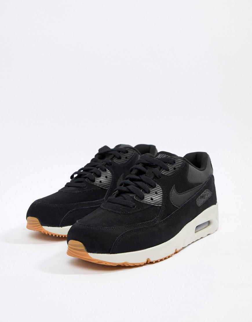 more photos a0f68 8d5e4 Nike Air Max 90 Ultra Leather Trainers In Black 924447-003 in Black for Men  - Lyst