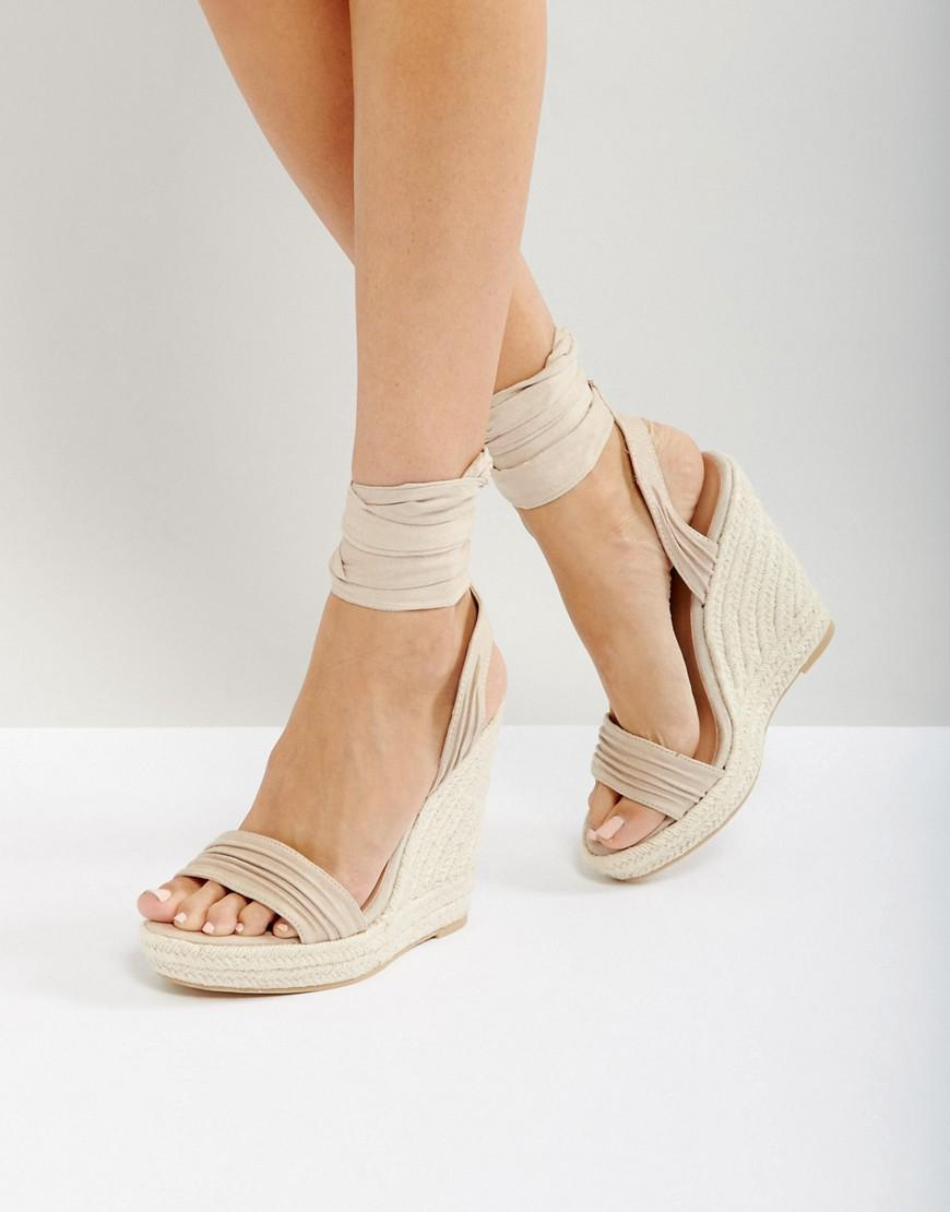 399b871f064 Lyst - Call It Spring Cadoilla Nude Espadrille Ankle Tie Sandals in ...
