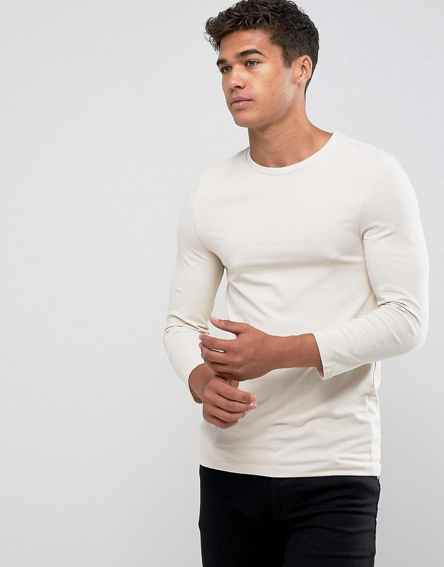 7fd2d9a3ba8d89 Asos Design Asos Extreme Muscle Fit T-shirt With 3/4 Length Sleeves ...
