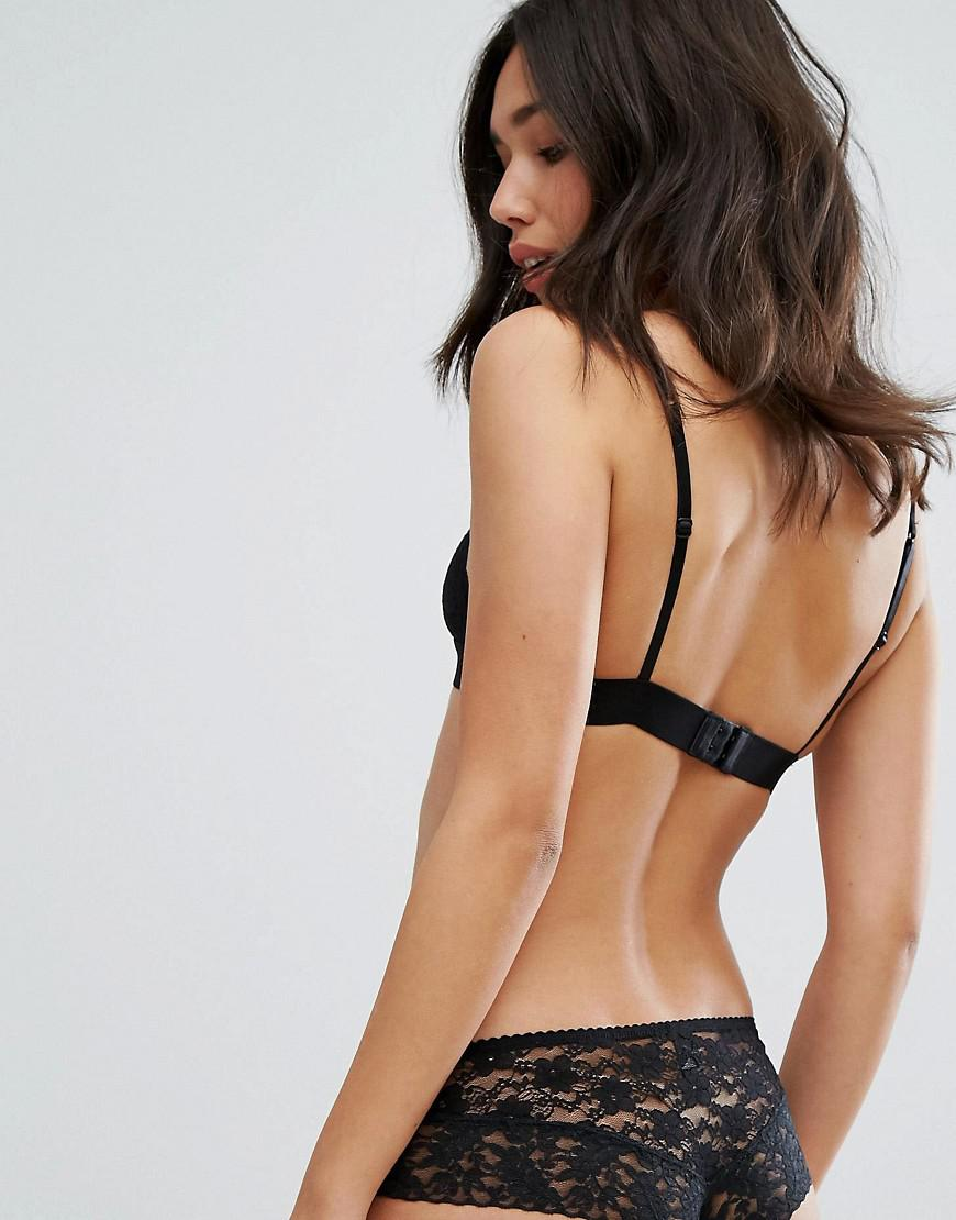 281d0208d861cf Lyst - New Look Lace Bralette in Black - Save 64%