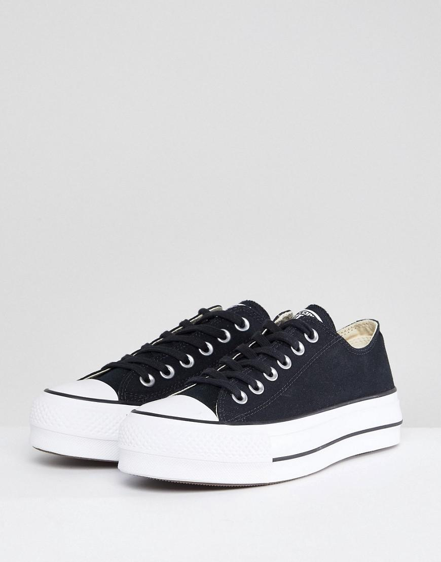 b5a197ad5506 Lyst - Converse Chuck Taylor All Star Platform Ox Trainers In Black in Black