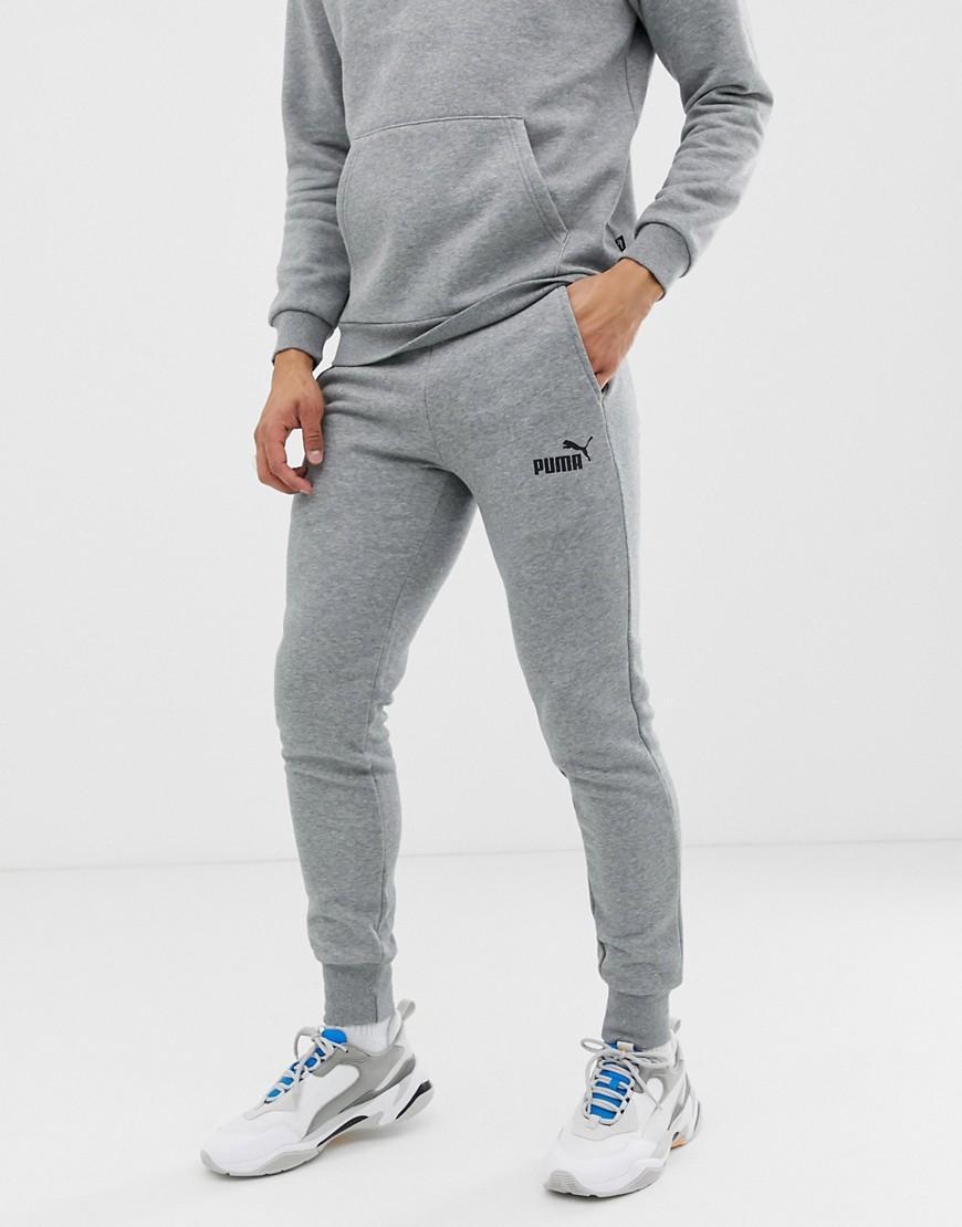 9e53a74326c5 PUMA - Gray Essentials Skinny Fit joggers In Grey for Men - Lyst. View  fullscreen