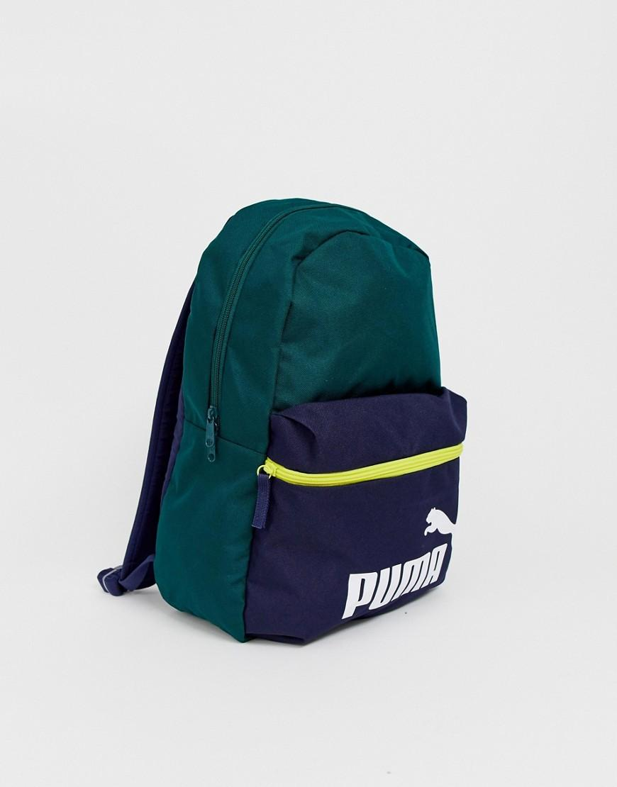 e900a21fdb Lyst - PUMA Phase Colour Block Backpack In Green in Green for Men