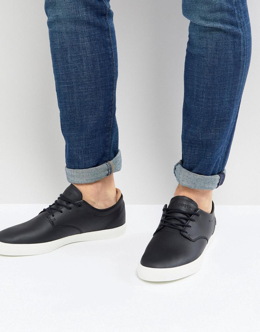 020e83479c8 Lacoste Espere Leather Trainers In Black in Black for Men - Lyst