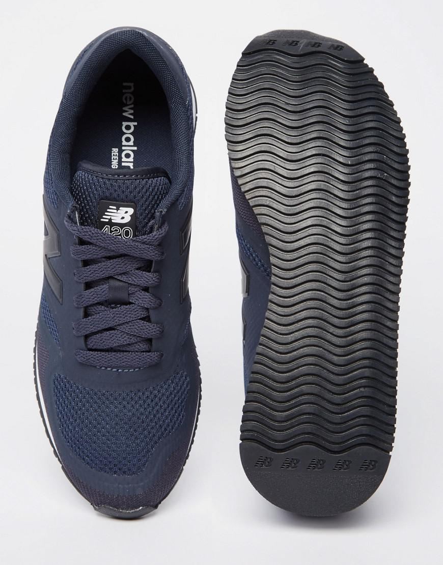 830220473db5a New Balance 420 Microfiber Trainers In Navy U420dan in Blue for Men ...