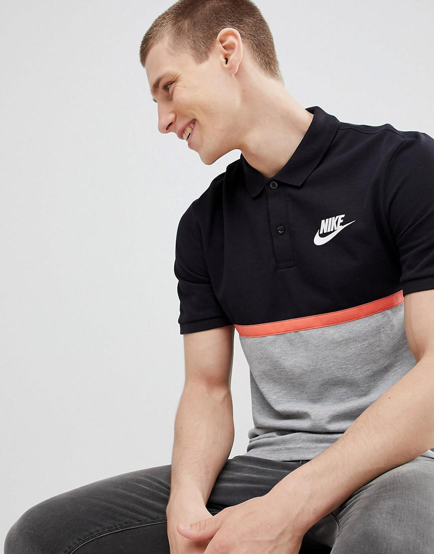 b70f866cb763 Nike Matchup Colour Block Polo In Grey 886507-010 in Gray for Men - Lyst