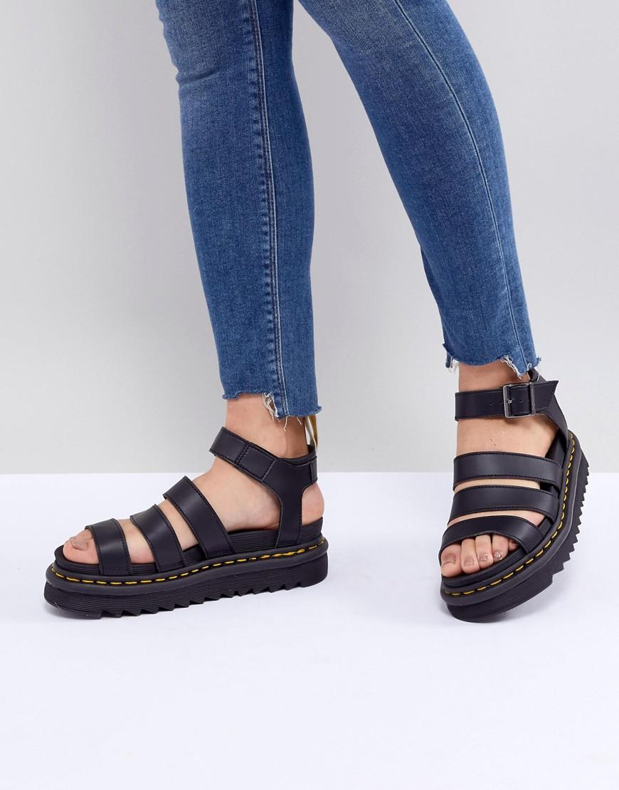 a81611f278ba Lyst - Dr. Martens Vegan Blaire Chunky Sandals In Black in Black
