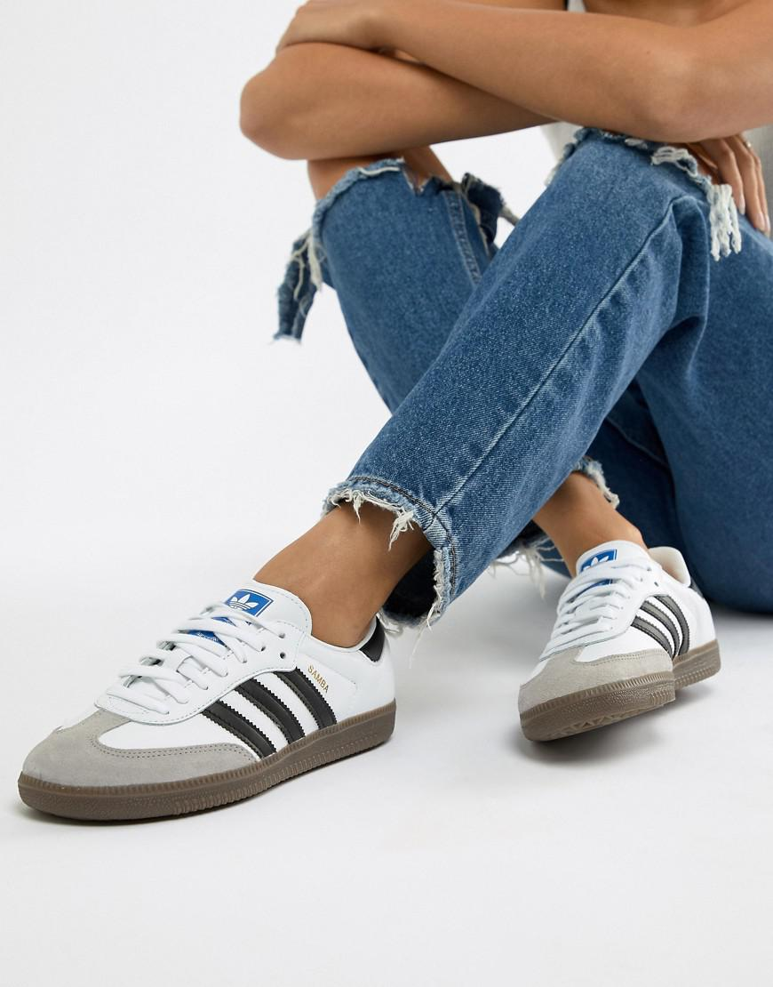 adidas Originals Samba Og Sneakers In White And Black - Lyst f3ae2a40b