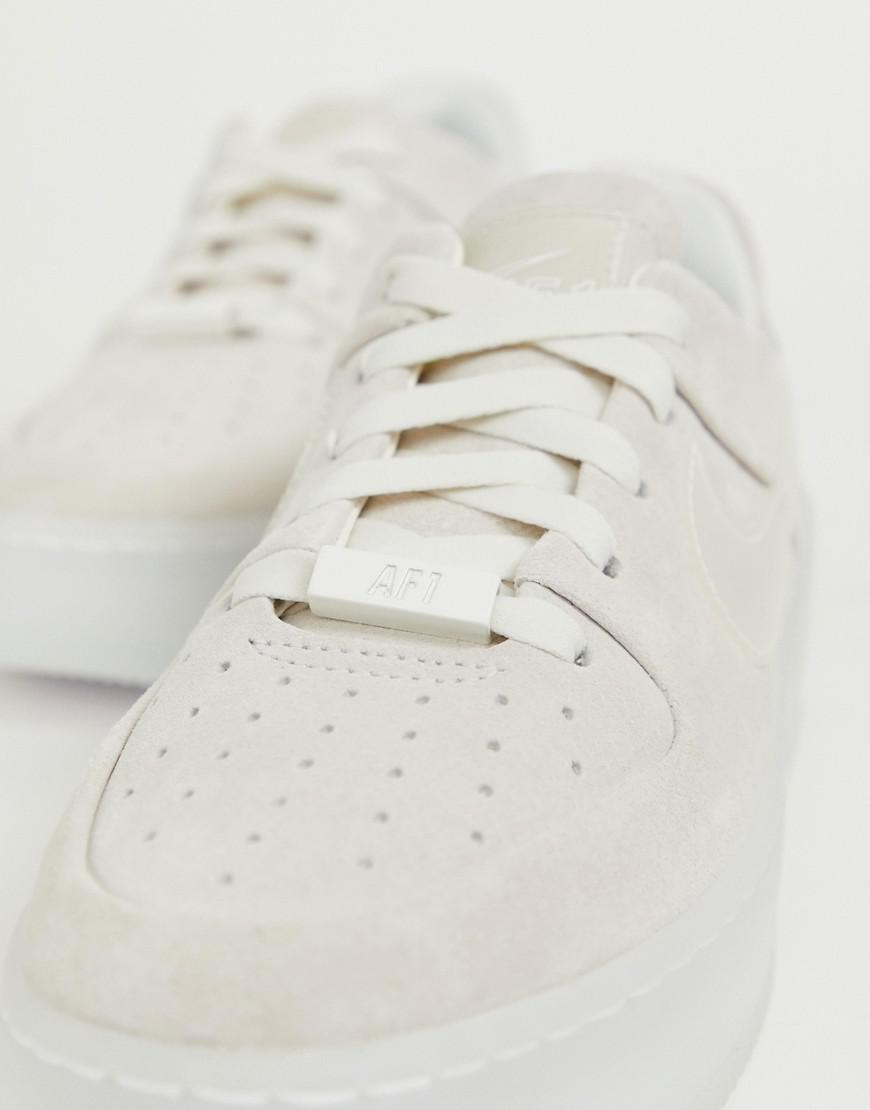 check out 6f26b 581c1 Nike Grey Ice Air Force 1 Sage Trainers in Gray - Lyst