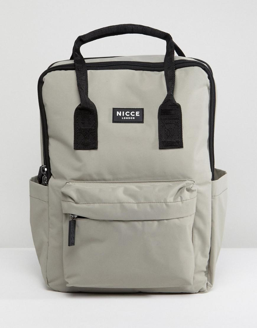 72b4c9847d1ed9 Lyst - Nicce London Nicce Retro Backpack In Gray in Green for Men