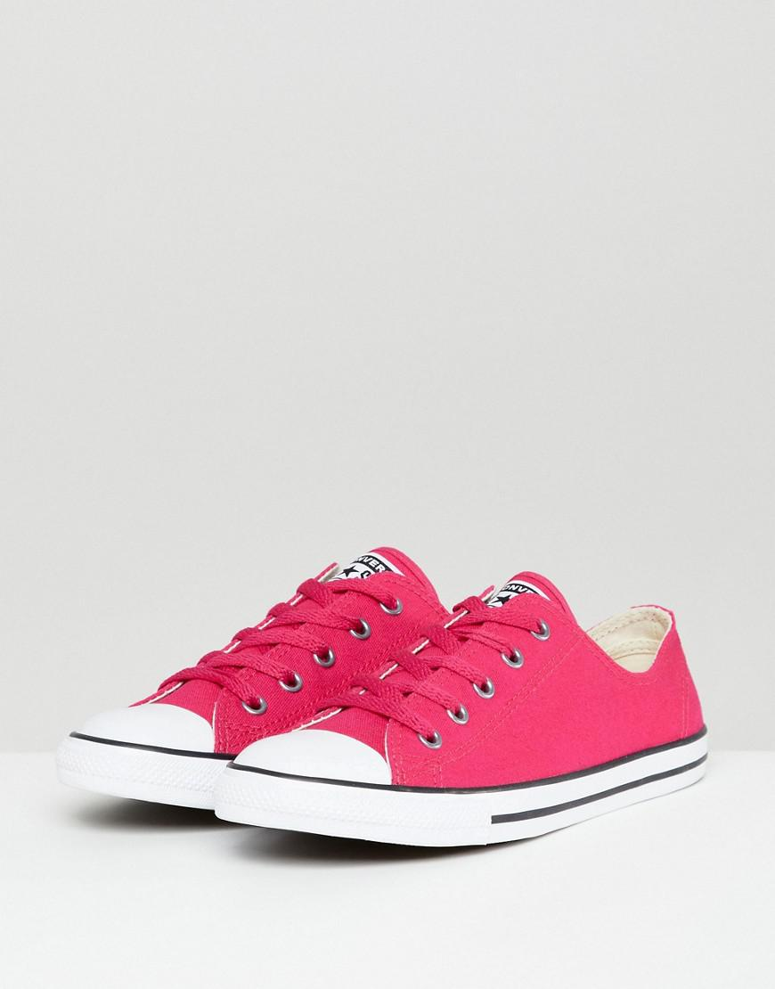 6f26dabc773133 Lyst - Converse Chuck Taylor All Star Dainty Ox Trainers In Pink in Pink
