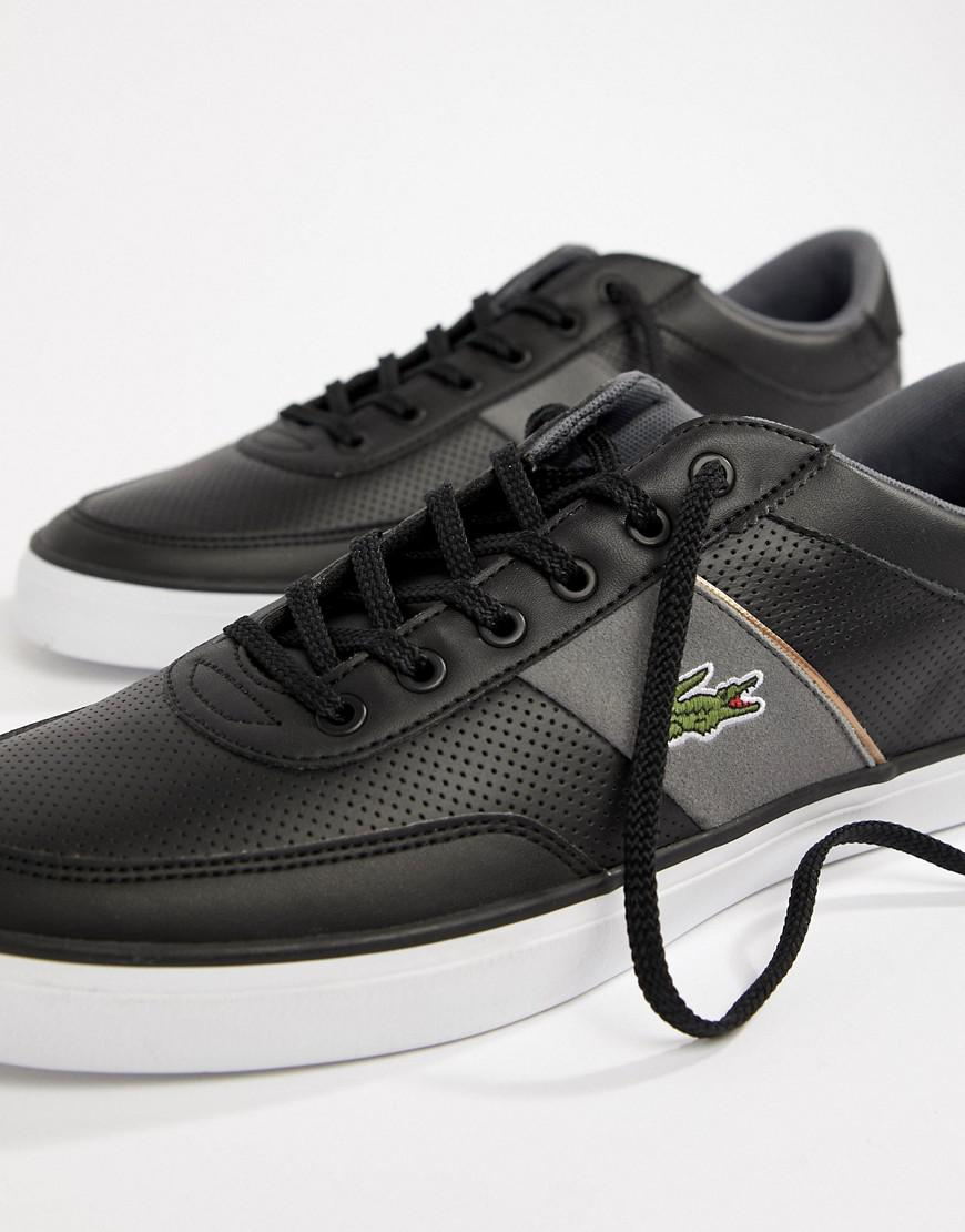f4917b5b979a6 Lacoste Court Master 318 1 Trainers In Black in Black for Men - Lyst