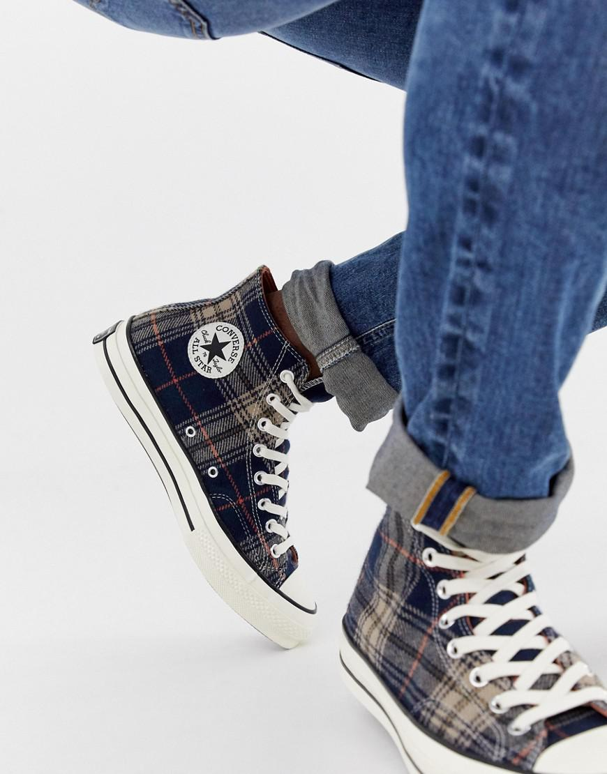 Lyst - Converse Chuck Taylor All Star  70 Hi Trainers In Navy ... 37db1c17b
