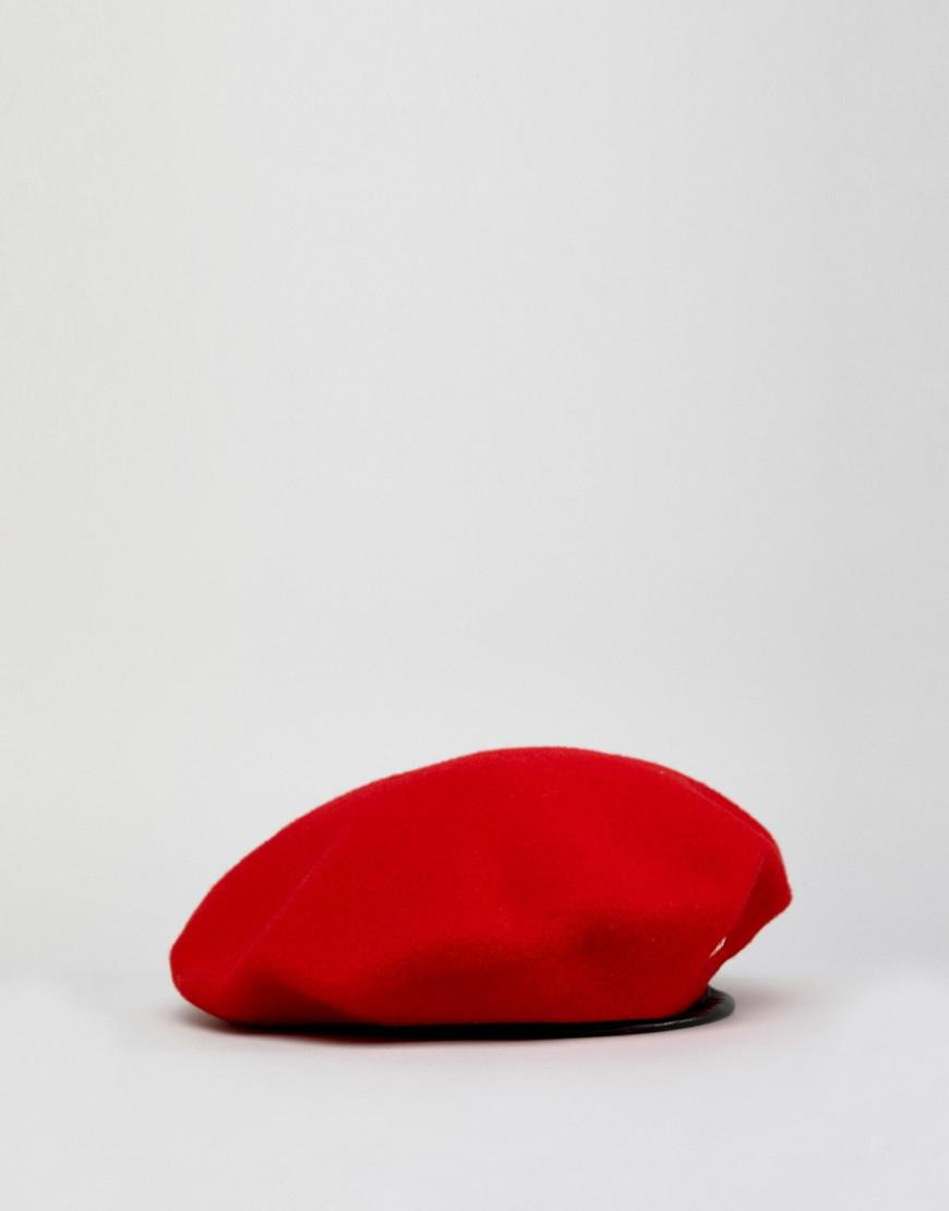 2c3195f6f4a3d Kangol Monty Military Wool Beret in Red - Lyst