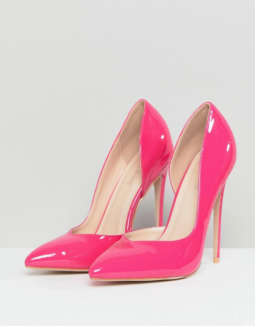 9be5b4804e3 Lyst - Public Desire Sachi Hot Pink Patent Pumps in Pink