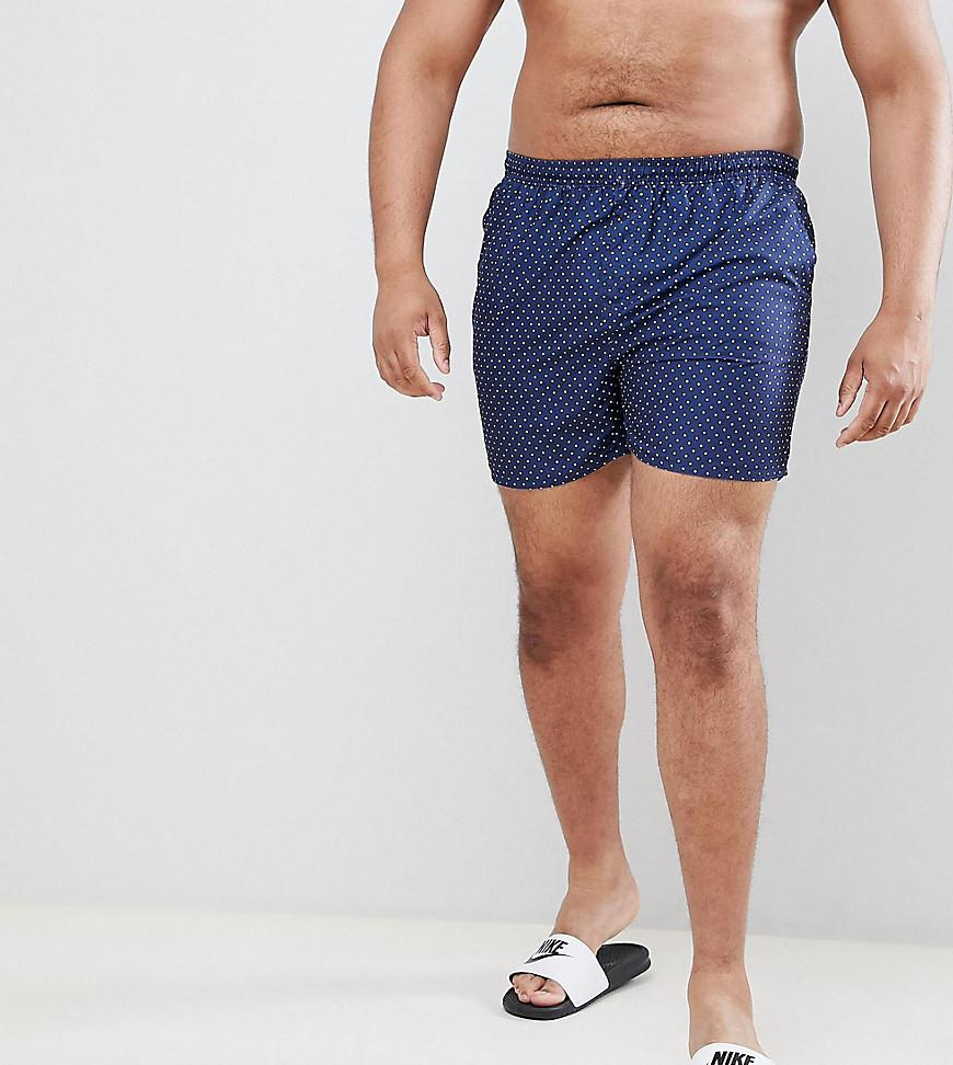 56eccb966b French Connection Plus Dot Swim Shorts in Blue for Men - Lyst