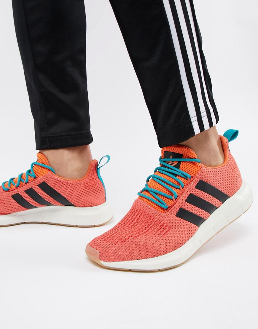 aec2e3136 Lyst - adidas Originals Swift Run Summer Trainers In Orange Cq3086 ...