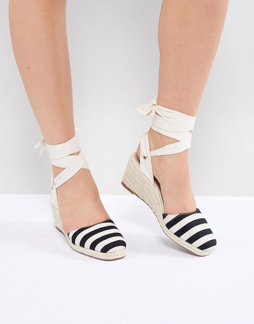 888794217c94 Miss Selfridge Stripe Espadrille Wedge Heel Sandals - Lyst
