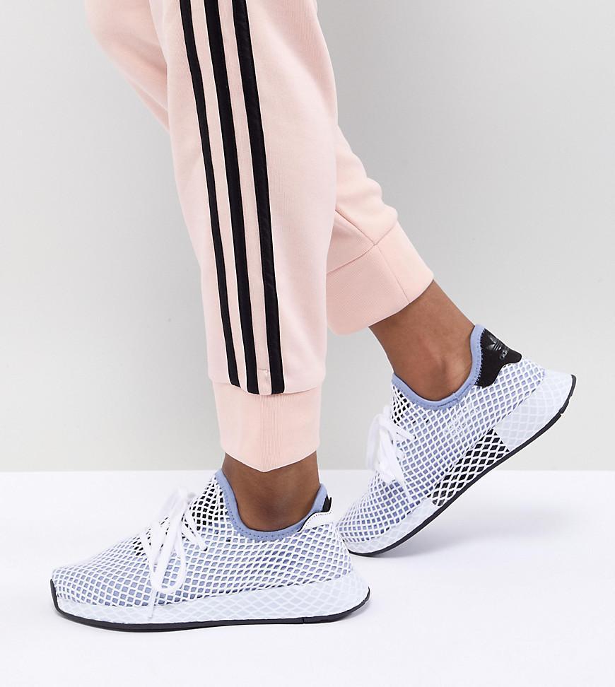af32a3936fb adidas Originals Deerupt Runner Sneakers In Blue in Black - Lyst
