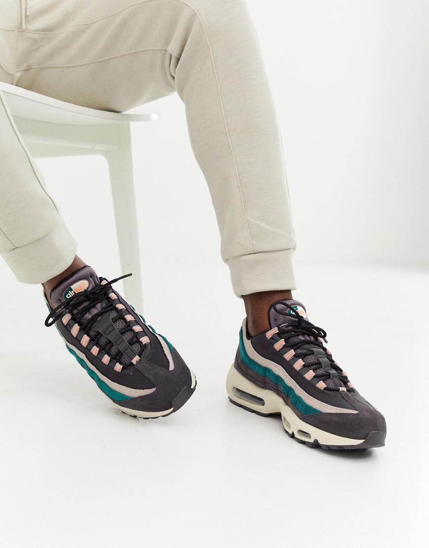 Nike Air Max 95 Premium Trainers In Grey 538416-018 in Gray for Men - Save  52% - Lyst f96664012