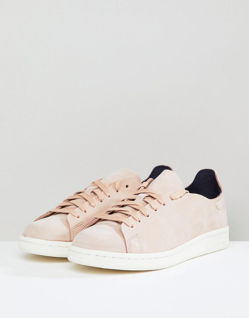 a005727b9fcf3c adidas Originals Stan Smith Nuud Nubuck Trainers In Pink in Pink - Lyst