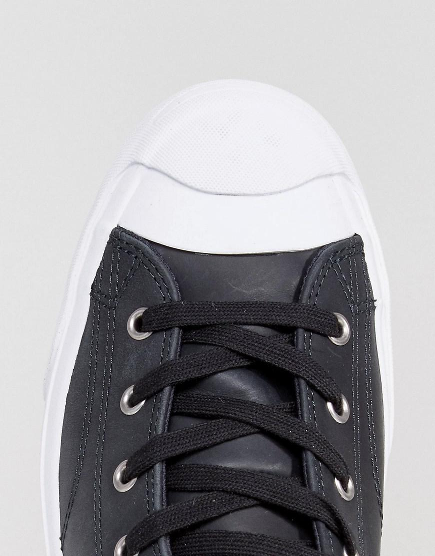 half off 323e5 aa48e converse-Black-Jack-Purcell-Leather-Mid-Sneakers-In-Black-157707c.jpeg