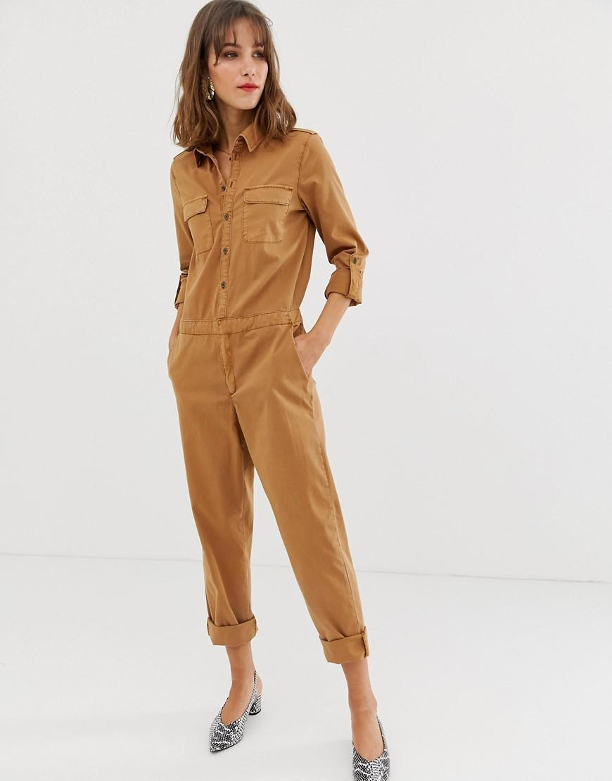 82f6358a3ab Vero Moda Utility Boiler Suit in Brown - Lyst