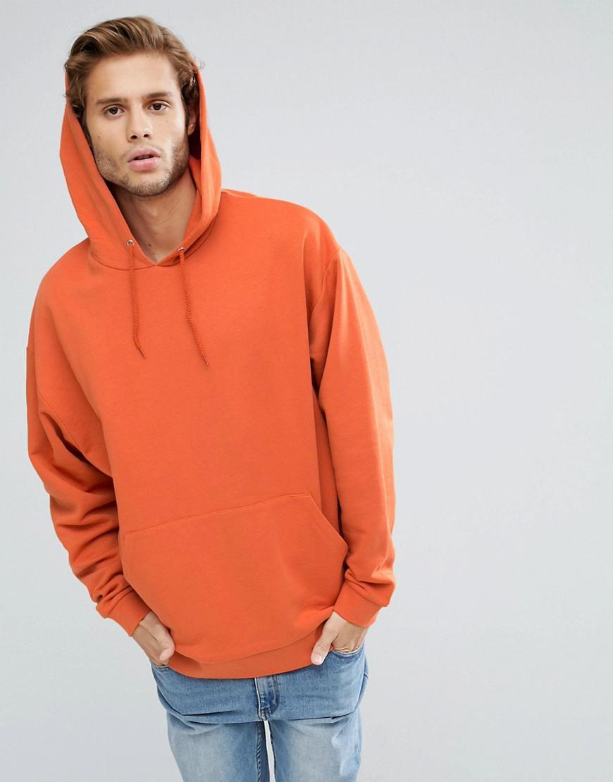 Lyst - Asos Oversized Hoodie In Orange in Orange for Men